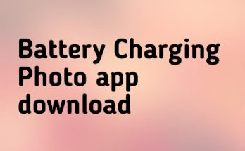 Battery Charging Photo app download