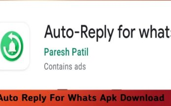 Auto Reply For Whats Apk Download