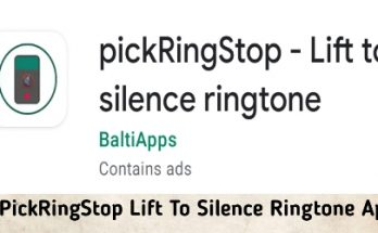 PickRingStop Lift To Silence Ringtone Apk